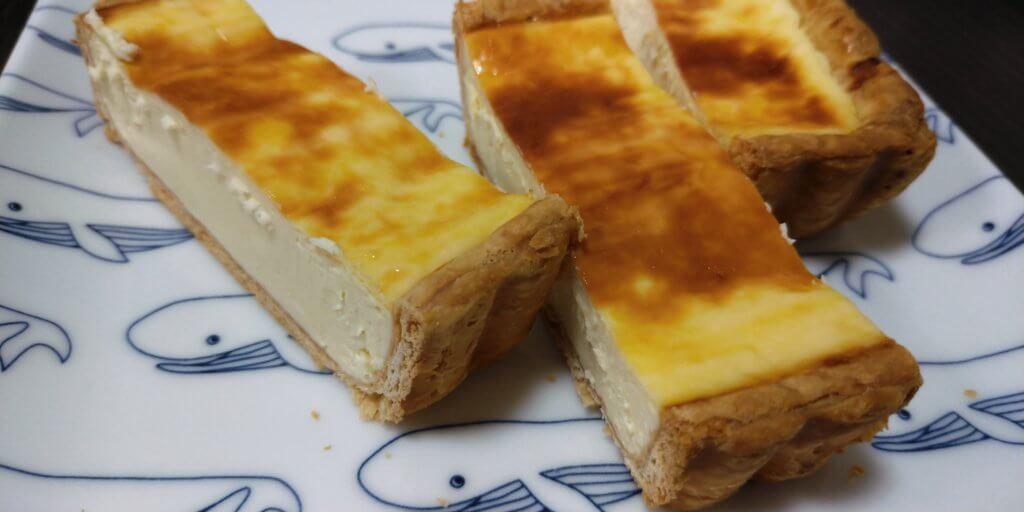 一厘のチーズケーキのカット断面の写真