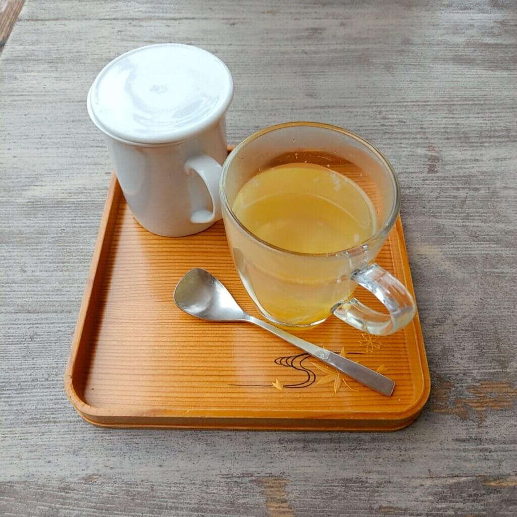 NARAYA CAFE の柚子茶。寒い日にぴったり。